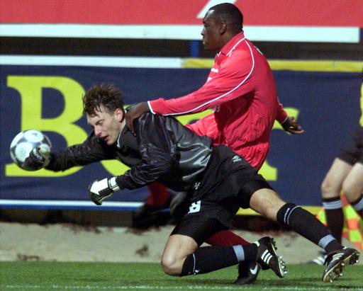 Emile in the UEFA Cup match against Slovan Liberec