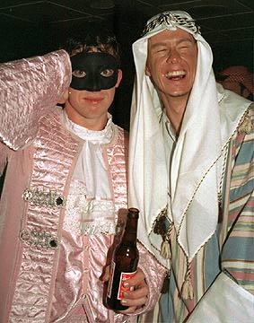 Macca & Owen at the Christmas Bash '98